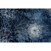Marmont Hill Blue Floral Burst Graphic Art on Wrapped Canvas