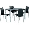 Home Zone Furniture Novello Dining Set with 4 Chairs