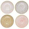 "Bloomingville Susie Ceramic 4 Piece 9.8"" Dinner Plate Set"