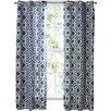 Keilen Geometric Semi-Sheer Single Curtain Panel
