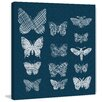 Marmont Hill Patterned Moths Graphic Art on Wrapped Canvas