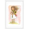 Marmont Hill 'Sunflower Girl' by Phyllis Harris Framed Graphic Art