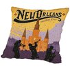 East Urban Home Neworleans Throw Pillow