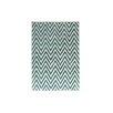 Bakero Ziggy Hand-Tufted Ivory/Turquoise Area Rug