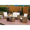 Hokku Designs Algarve 4 Seater Sofa Set with Cushions