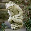 Campania International The Thinking Man's Frog Statue