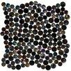 "Susan Jablon 0.75"" x 0.75"" Glass Mosaic Tile in High-Gloss Black"