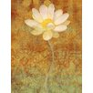 Marmont Hill 'White Lotus' by Louise Montillio Graphic Art on Wrapped Canvas