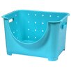 Basicwise Stackable Plastic Storage Container Stacking Bins