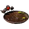 Tilnar Art RSPB Recycled Metal Robins Bird Bath Bowl
