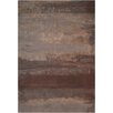 Calvin Klein Home Rug Collection Luster Wash Hand Woven Wool Slate/Brown Area Rug