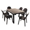 Caracella Alloro Palma Extendable Dining Table and 6 Chairs