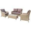Hokku Designs Saskia 4 Piece Sofa Set with Cushions