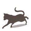 dCor design Metal Running Cat Garden Art