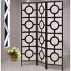 "Asia Direct Home Products 72"" x 54"" Jute Screen with Circle 3 Panel Room Divider"