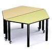 """Russwood Palette 58"""" x 26"""" Trapezoidal Activity Table"""