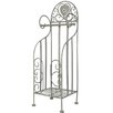 Castleton Home Distressed Freestanding Toilet Roll Holder with Storage