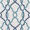 Hazelwood Home Geometrie Sausalito Lattice 10.05m x 52cm Geometric Roll Wallpaper