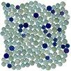 Susan Jablon Signature Line Dots Glass Mosaic Tile in Aqua