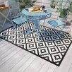 Riley Ave. Kenji Black Indoor/Outdoor Rug