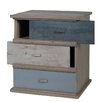 Castleton Home Sark 3 Drawer Bedside Table