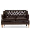 Home Etc Carmen Genuine Leather 2 Seater Loveseat