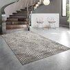Hokku Designs Teppich Reflection in Creme/Dunkelgrau