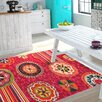 House Additions Nevers Red Area Rug