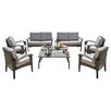 Beachcrest Home Farrow 8 Piece Lounge Seating Group with Cushions