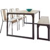 Homestead Living Turner Dining Set with 3 Chairs and one Bench