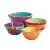 Fox Run Craftsmen Anchor 4 Piece Ceramic Mixing Bowl Set