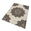 Hanse Home Teppich Lace in Dunkelbraun/Creme