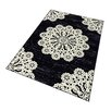 Hanse Home Lace Rug in Black/Cream white