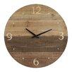 "Terrain Round Wood Laser Cut 22"" Wall Clock"