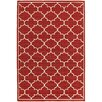 Charlton Home Duncan Red/Ivory Indoor/Outdoor Area Rug