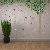 Home Loft Concept Green Tree and Swarovski Crystals Wall Sticker