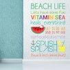 Home Loft Concept Beach Quotes Wall Sticker