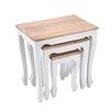 Hazelwood Home Avon 3 Piece Nest of Tables