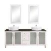 """Brayden Studio Fraher 72"""" Double Bathroom Vanity Set with Mirror"""