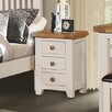 Hazelwood Home Whitby 3 Drawer Bedside Table (Set of 2)