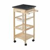 Castleton Home Kitchen Trolley with Granite Top
