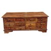 Ethnic Elements Coffee Table with Storage