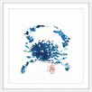 Marmont Hill 'Blue Crab' by Andrew Clay Framed Art Print