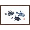 Marmont Hill 'Small Trigger Fish' by Andrew Clay Framed Art Print