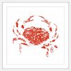 Marmont Hill 'Lucky Crab' by Andrew Clay Framed Art Print