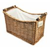 Woodluv 2 Piece Wicker Magazine Rack Set
