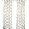 Mercury Row Arrey Basketweave Geometric Semi-Sheer Grommet Curtain Panel (Set of 2)