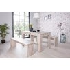 All Home München 3 Piece Dining Set with 2 Benches