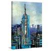Marmont Hill 'Urban Sketch Monday PM' by Lana Greben Art Print on Wrapped Canvas