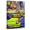 Marmont Hill 'Urban Sketch Taxi' by Lana Greben Art Print on Wrapped Canvas